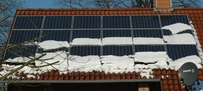 Solaranlage auf einem Dach in Schwiegershausen
